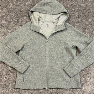NWOT Women's gray zip-up hoodie size L
